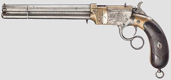 Repetierpistole Venditti, um 1877