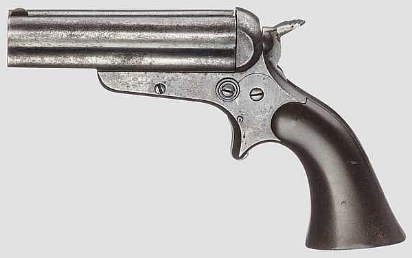 Sharps & Hankins Breech Loading 4-Shot Pepperbox Pistol, um 1865