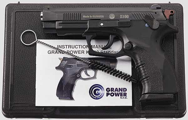 Grand Power K 100, im Koffer