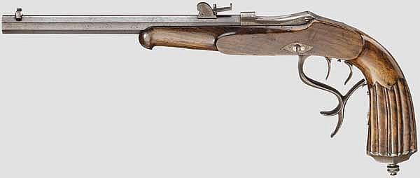Scheibenpistole A. Wespi, Bern um 1885