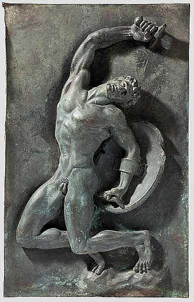 KUNST IM DRITTEN REICH: Arno Breker (1900 - 1991) - Bronzerelief