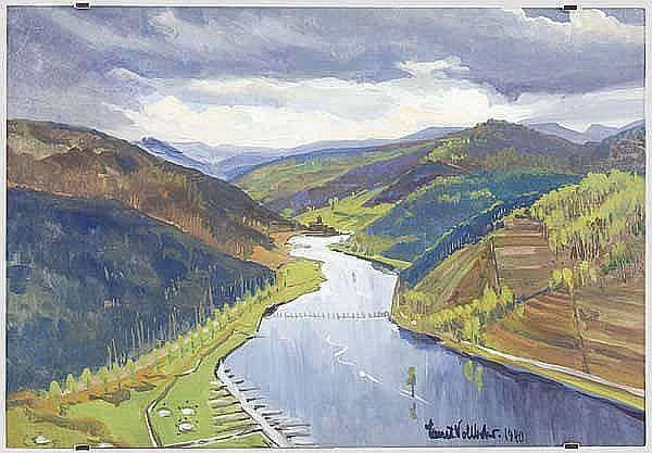 KUNST IM DRITTEN REICH: Ernst Vollbehr (1876 - 1960) - Moseltal.
