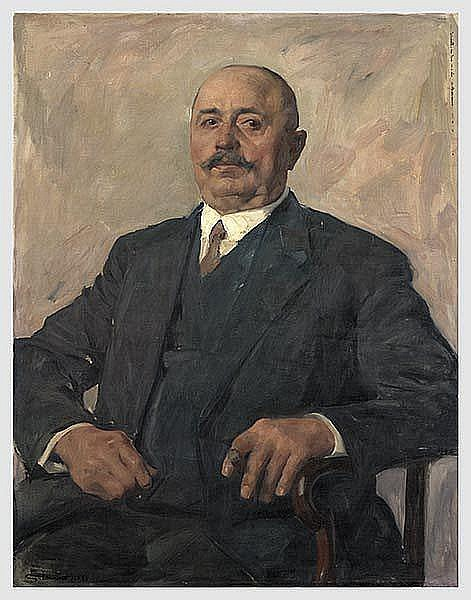 KUNST IM DRITTEN REICH: Franz Eichhorst (1885 - 1948) - Bildnis August Thiesies.