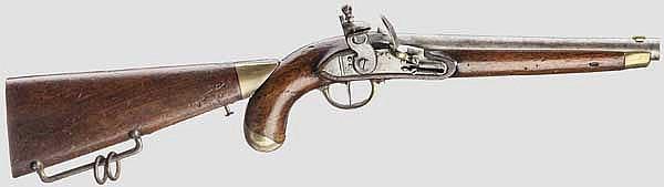 Gezogene Kolbenpistole M 1818