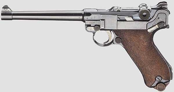 Pistole 04 (1914), DWM 1917, mit Tasche