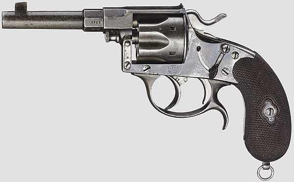 Offiziers-Reichsrevolver Mod. 1883 mit Doppelabzug, v. Dreyse