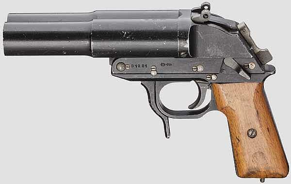 Doppelläufige Signalpistole Mod. LP 2