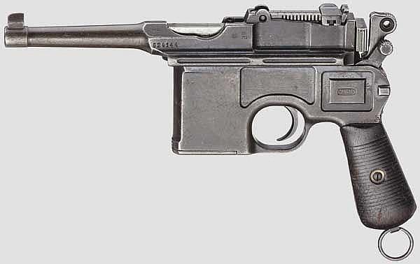 Mauser C 96 Bolo, mit Kasten und Leder