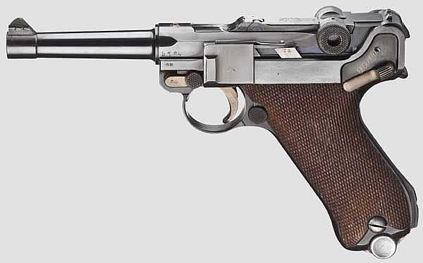 A Pistol 08, DWM, Weimar Alphabet serial number, police
