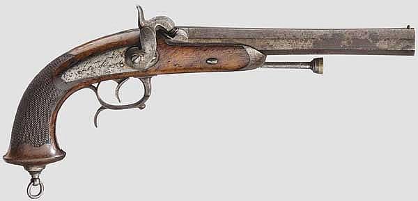 Offizierspistole M 1833, 2. Modell