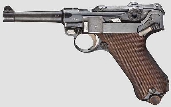 A Pistol 08, Erfurt 1917/18, with holster