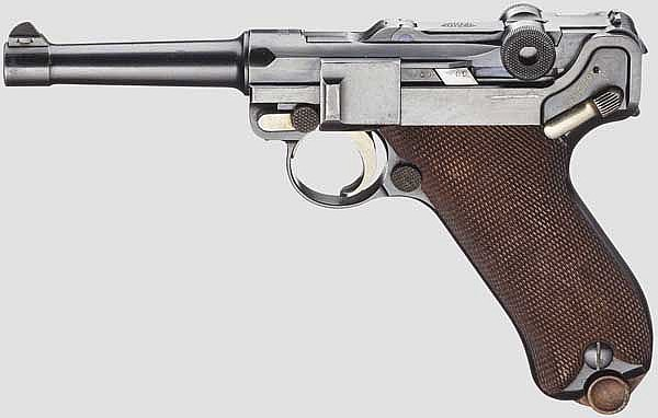 Pistole 08, DWM 1910, ohne Kammerfang