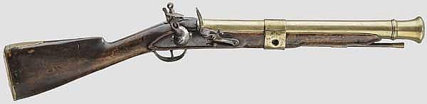 Steinschlosstromblon, englisch, datiert 1789