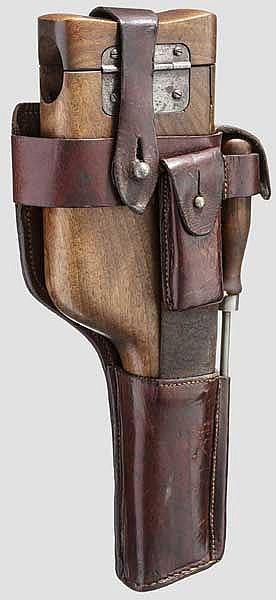 Originaler Kasten mit Belederung zur Mauser C 96