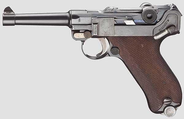Pistole 08, DWM, Polizei Weimar, ohne Kammerfang