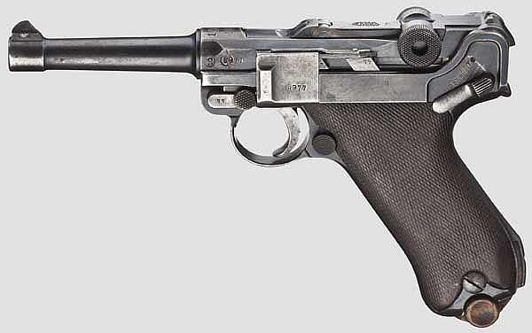 A Pistol 08, DWM 1916/1920, Simson rework, Reichswehr, police
