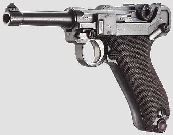 A Pistol 08, DWM 1915, Israel, military presentation weapon