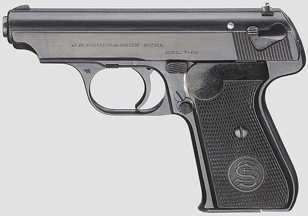 Sauer & Sohn Mod. 38, Polizei, mit Tasche