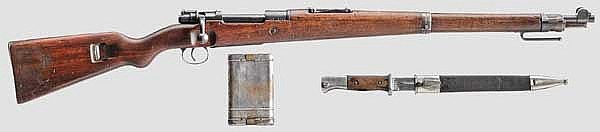 Karabiner 98 a, Erfurt 1917/1920, Reichswehr, mit Bajonett und RG 34
