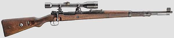 Zielfernrohrgewehr 98 k mit hoher Schwenkmontage und ZF Zeiss