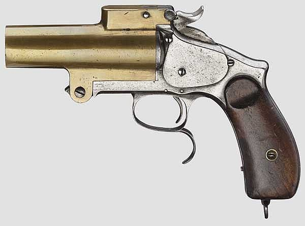Einläufige dt. Signalpistole in Art A.W.W.