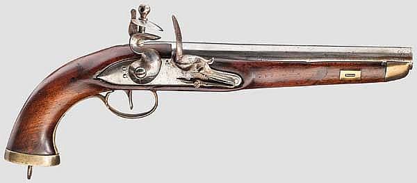 Steinschlosspistole, um 1800