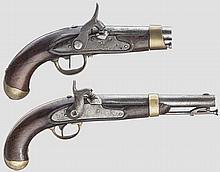 Zwei Perkussionspistolen