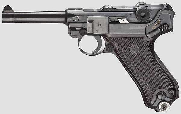 A Pistol 08, Mauser Banner 1942, police