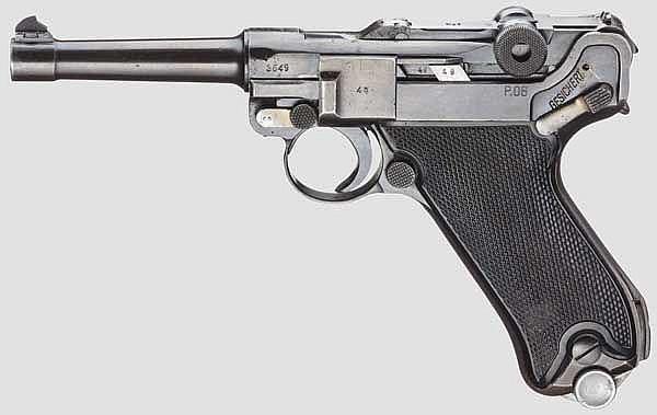 Pistole P. 08, Mauser, Code