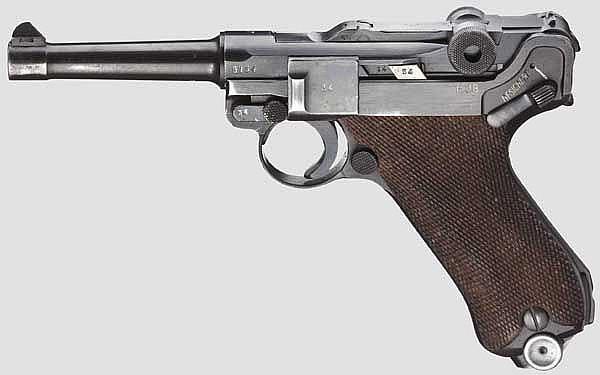 A Pistol 08, Mauser, code