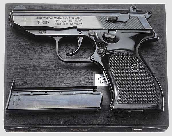 Walther PP Super, in Box, Polizei Bayern