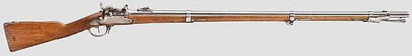 Infanteriegewehr Mod. 1817, St. Blasien, aptiert auf Mod. 1842/59/67 System Milbank-Amsler, mit deutschem Truppenstempel