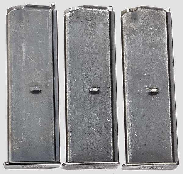 Drei originale Magazine zur Mauser Mod. 1932 (Mod. 712)