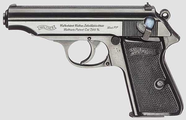 Walther PP, ZM, R.F.V., mit Tasche