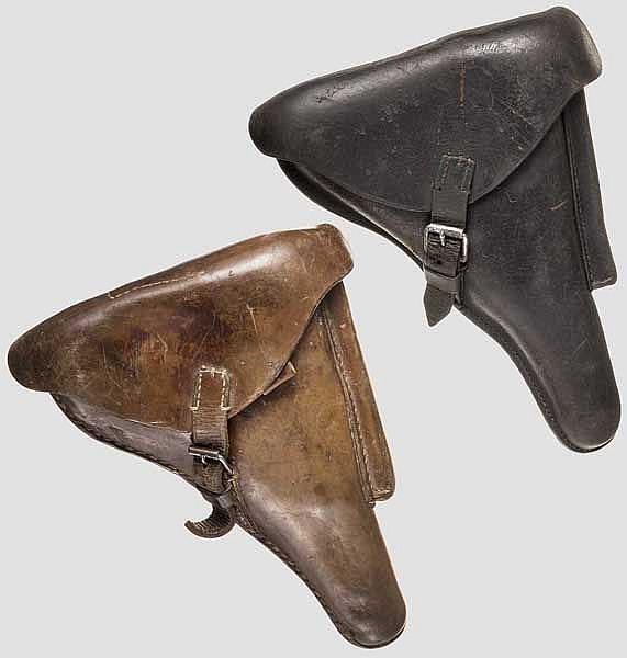 Zwei Koffertaschen zur P. 08, Kaiserreich