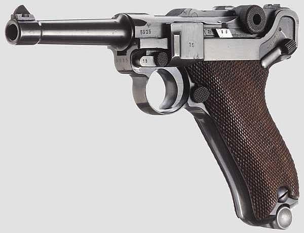 A Pistol 08, Mauser Banner 1941, with holster, Schutzpolizei