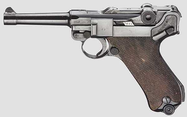 Pistole 08, Mauser, Code