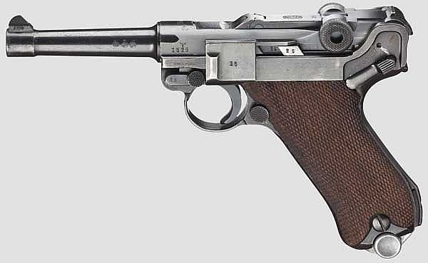 A Parabellum Mauser Banner 1940, with holster, police, army