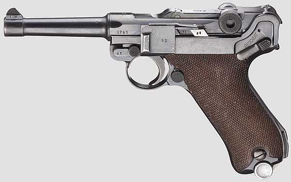 A Pistol 08, Mauser, military code