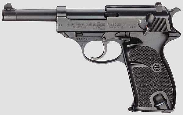 Manurhin Pistolet P1, Polizei Berlin, mit Tasche
