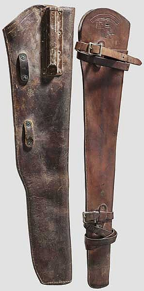 Two Leather Vehicle Scabbards US M 1 Garand