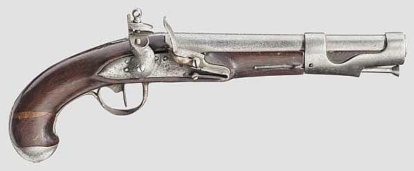 Kavalleriepistole M 1763-66, Revolutionszeit