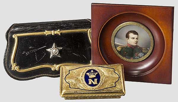 Tabakdose und Portrait Napoleon, Kartuschkasten