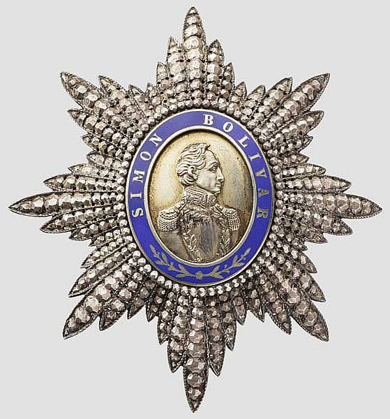 Orden des Befreiers (Orden del Libertador) - Bruststern der Großoffiziere