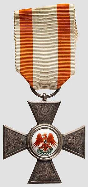 Roter Adler Orden - Kreuz der 4. Klasse mit Verleihungsurkunde 1912