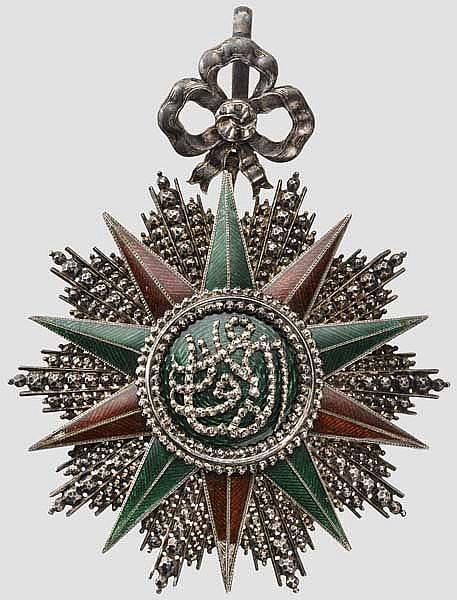Nischan-el-Iftikhar-Orden (Orden des Ruhmes) - Großkreuzkleinod unter Sadok Bey in Scharffenberg - Fertigung um 1860