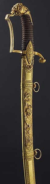 A deluxe lion's head sabre for a staff officer, circa 1800