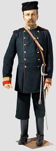 Wachsfigur eines zaristischen Großfürsten oder Offiziers