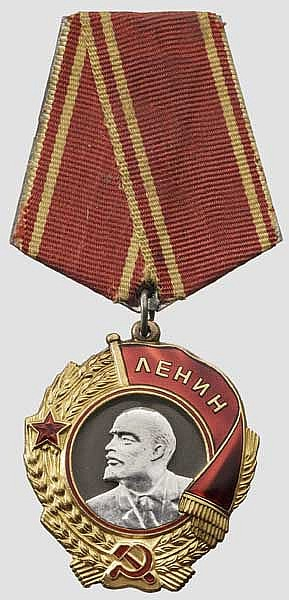 Lenin-Orden des sechsten Typs bis 1991 in Leningrader Fertigung