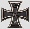 Eisernes Kreuz 1. Klasse 1914 für den Kommandant Wenninger des U-Boot UB 17 (U-Flottille Flandern)